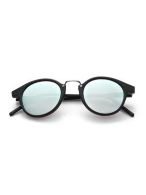 Frank 46mm Round Pantos Mirror Sunglasses