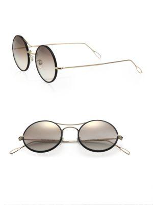 Ros 49MM Round Sunglasses