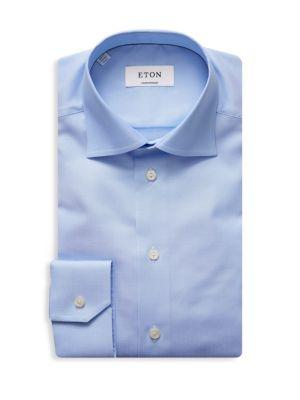 Solid Cutaway Collar Shirt