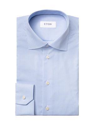 Contemporary-Fit Gingham Check Dress Shirt
