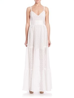 Jane Eyelet A-Line Gown
