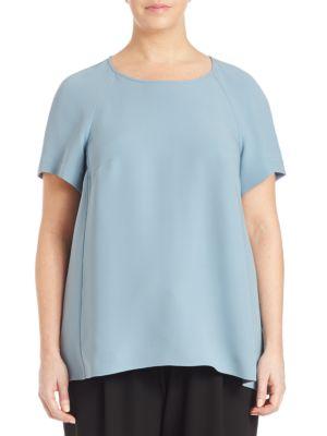 Kate Silk Double-Georgette Blouse plus size,  plus size fashion plus size appare