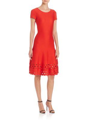 Diamond Cutout Fit-&-Flare Dress