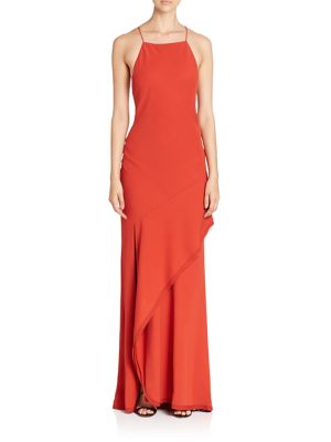 Draped Sleeveless Gown