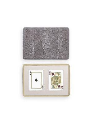 Embossed Shagreen Playing Card Case
