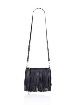 Finn Fringe Leather Crossbody Bag