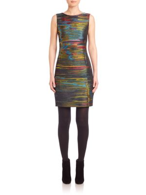 Northern Light Sleeveless Jacquard Dress