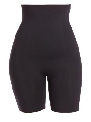 Plus Thinstincts High-Waist Mid-Thigh Shaper Shorts
