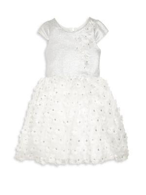 Toddler's, Little Girl's & Girl's Sequined Flower Dress