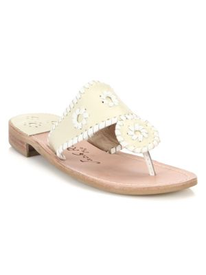 Palm Beach Leather Thong Sandals