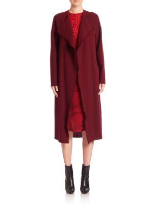 Long Wool Crepe Coat