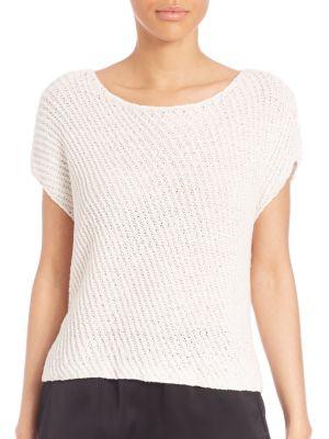 Diagonal Stitch Pullover