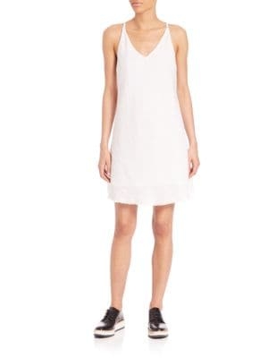 Deep V-neck Shift Dress