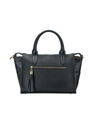 Grace Embossed Leather Satchel