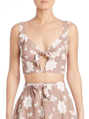 Sweet Jane Floral Crop Top