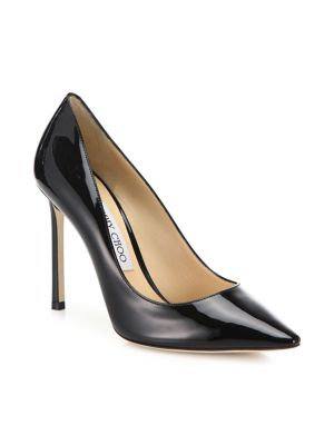 Romy 100 Patent Leather Point Toe Pumps