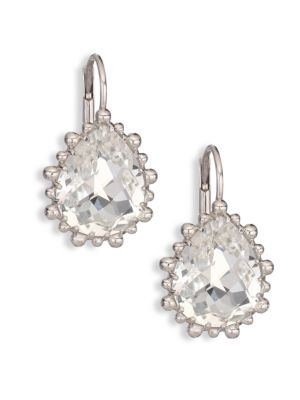 Dew Drop White Topaz Drop Earrings