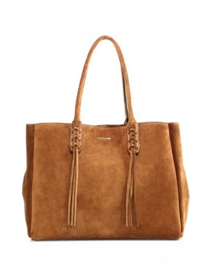 Small Tasseled Suede Tote