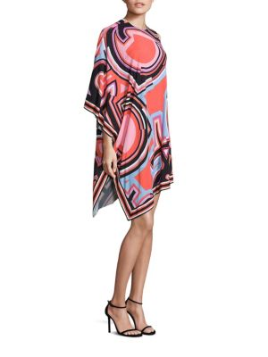 One-Shoulder Monogram Caftan Dress plus size,  plus size fashion plus size appare