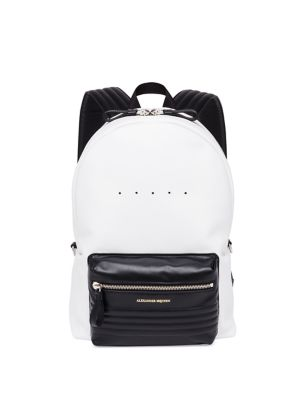 Two-Toned Leather Backpack