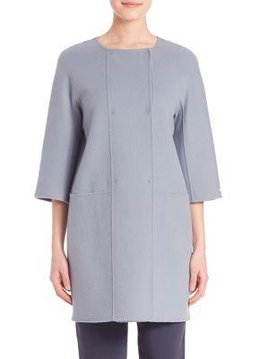 Solid Virgin Wool Short Coat plus size,  plus size fashion plus size appare