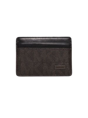 michael kors male jet set logo card case