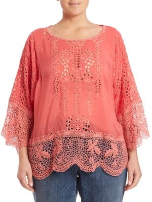 Dane Eyelet Dolman Tunic plus size,  plus size fashion plus size appare
