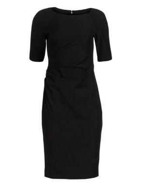Ruched Stretch-Twill Dress