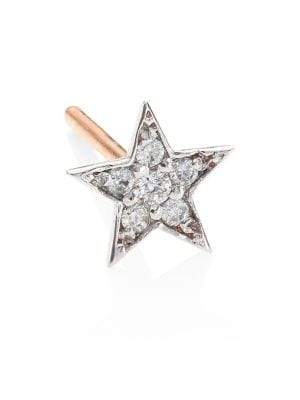 Heroine Star Diamond & 14K Rose Gold Stud Earrings