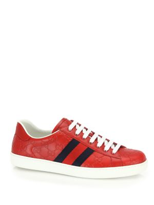 New Ace Low Top Leather Sneakers