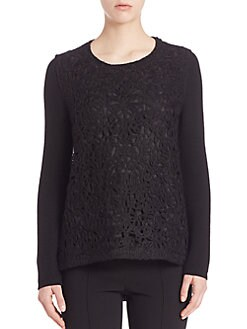 Agnona - Knit Pullover with Front Embroidery
