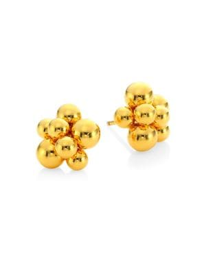 Mini Atomo 18K Yellow Gold Earrings