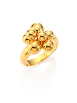 MARINA B Mini Atomo 18K Yellow Gold Ring