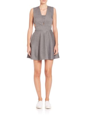 Kendra Deep V-Neck Cutout Dress