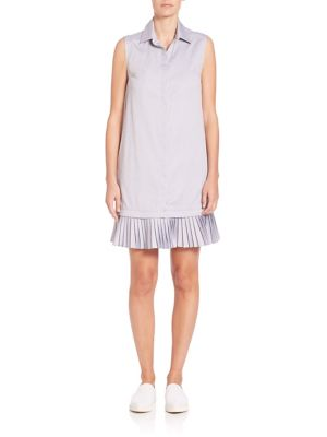 Arden Pleated Hem Shirtdress
