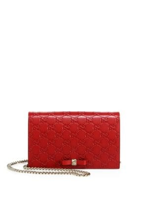Bowy GG Leather Chain Wallet