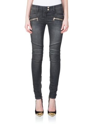 Seamed Moto Skinny Jeans