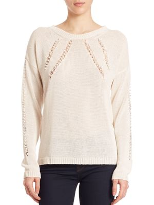 Embellished Open-Stitch Sweater by Foundrae