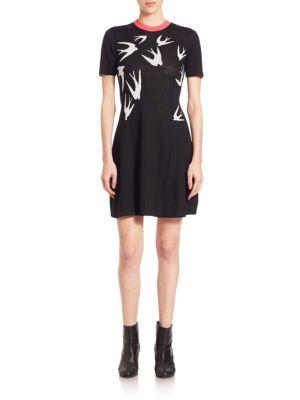 Swallow Woolen Skater Dress