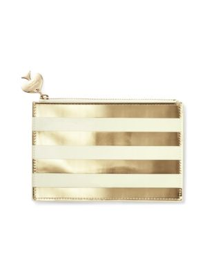 Gold Stripe Pencil Pouch Set