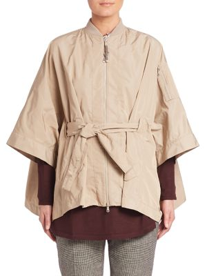 Belted Zip Front Cape