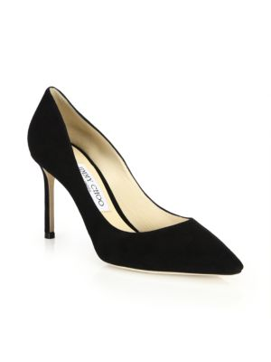 Romy 85 Suede Point Toe Pumps