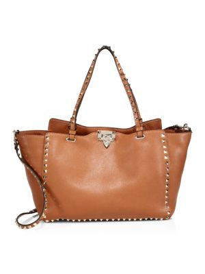 Rockstud Medium Leather Tote