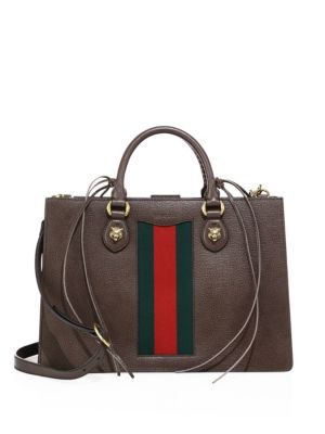 gucci female animalier leather top handle bag