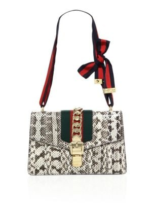 gucci female  sylvie snake shoulder bag