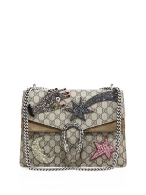 gucci female dionysus medium gg supreme sequinembroidered shooting star bag