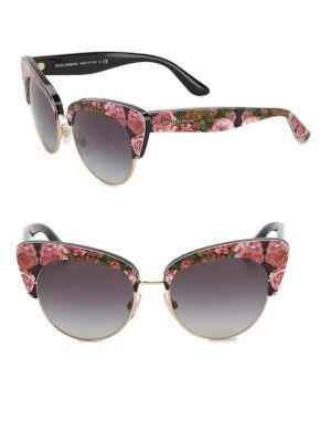 Sicilian Carretto 52MM Acetate & Metal Cat's-Eye Sunglasses