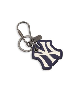 Embossed Sport Calf Leather Keychain