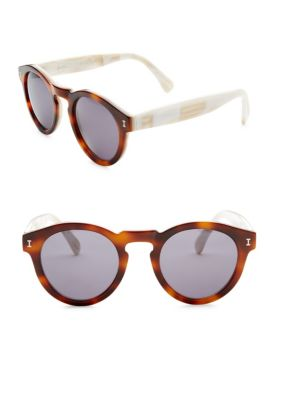 Leonard Sunglasses In Havana & Cream