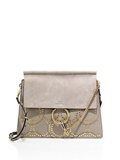 chloe kurtis medium calfskin shoulder bag